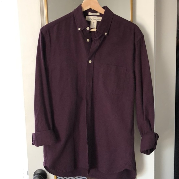 H&M Other - H&M Maroon Oxford Button Down Shirt size Small